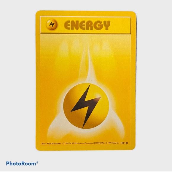 Pokemon - Lightning Energy Base Set 100/102 Common